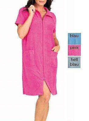Hauskleid  pink Mantelkleid Frotteekleid blau +vhellblau Strandkleid Kleid