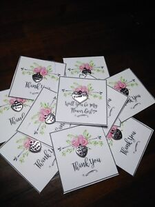 Wedding Bridesmaids Or Guest Small Thank You Gift Card Small Charm