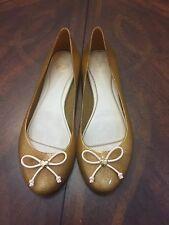Women's Mel By Melissa Gold Glitter Ballet Flat Jelly Gel Shoes Size 8