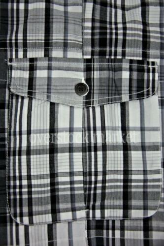 Age of Wisdom Flat Front Plaid Cargo Shorts Soft Cotton Garment Washed Variety!