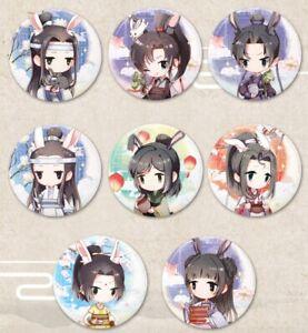 MO-DAO-ZU-SHI-Metal-Can-Badge-Pin-Button-Bunny-Ears-Art-OFFICIAL-CHOOSE
