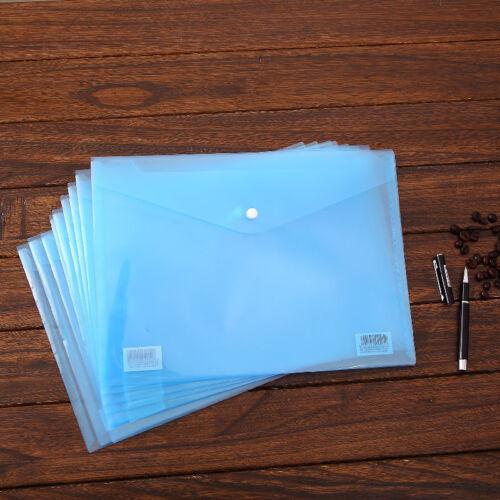 12 x Dokumententasche A4 Tasche Aufbewahrungstasche Kunststoff Transparent ~