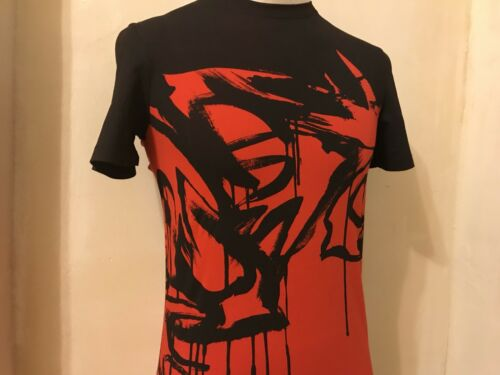 Red S T shirt Alexander Dripping Made Mcq Black Swallows In Art Mcqueen Italy dxBCoe