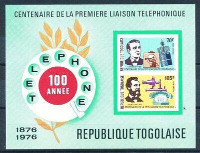 GüNstiger Verkauf 663698 Spezieller Kauf Togo Block 102b** 100 Jahre Telefon Raumfahrt Etc...