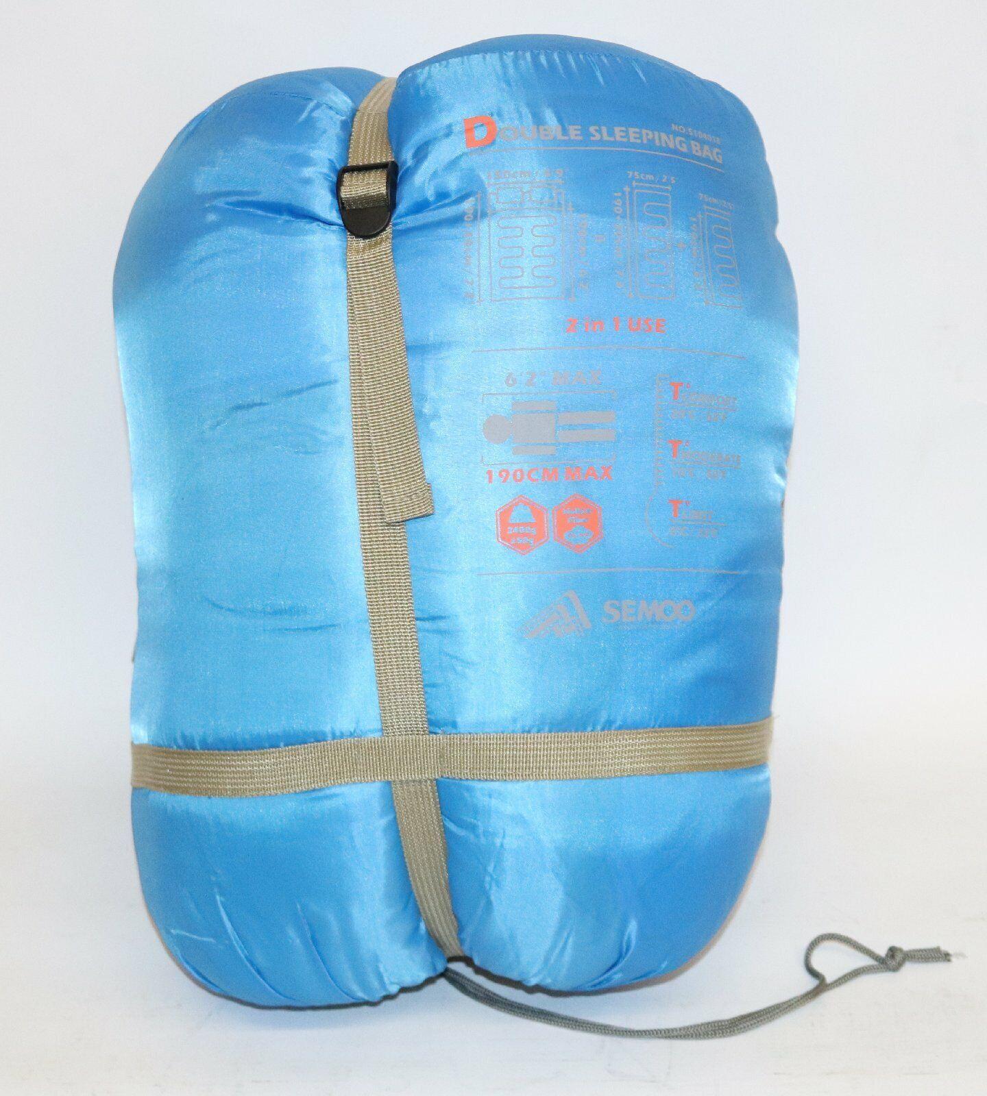 Semoo Semoo Semoo Doppelschlafsack - 3-Jahreszeiten Schlafsack für 2 Personen dfc44c