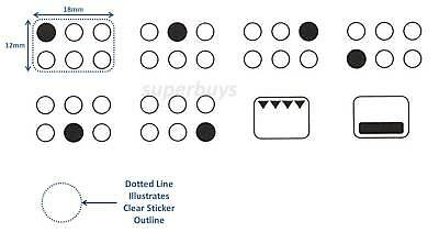 4 Hob Adhesive Oven Stove Knob Switch Range Sticker Replacement Label Decal Four