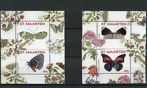 St Maarten 2016 MNH Butterflies 4 x 1v S/S II (nos 5-8) Insects Butterfly