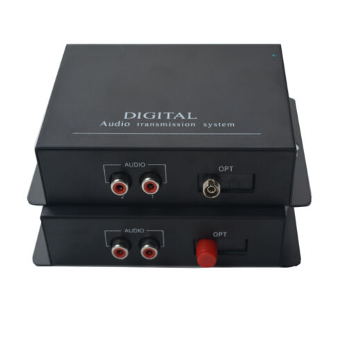 1 Pair 2 Channel Hi-Fi Audio Fiber Optical Media Converter System High Quality