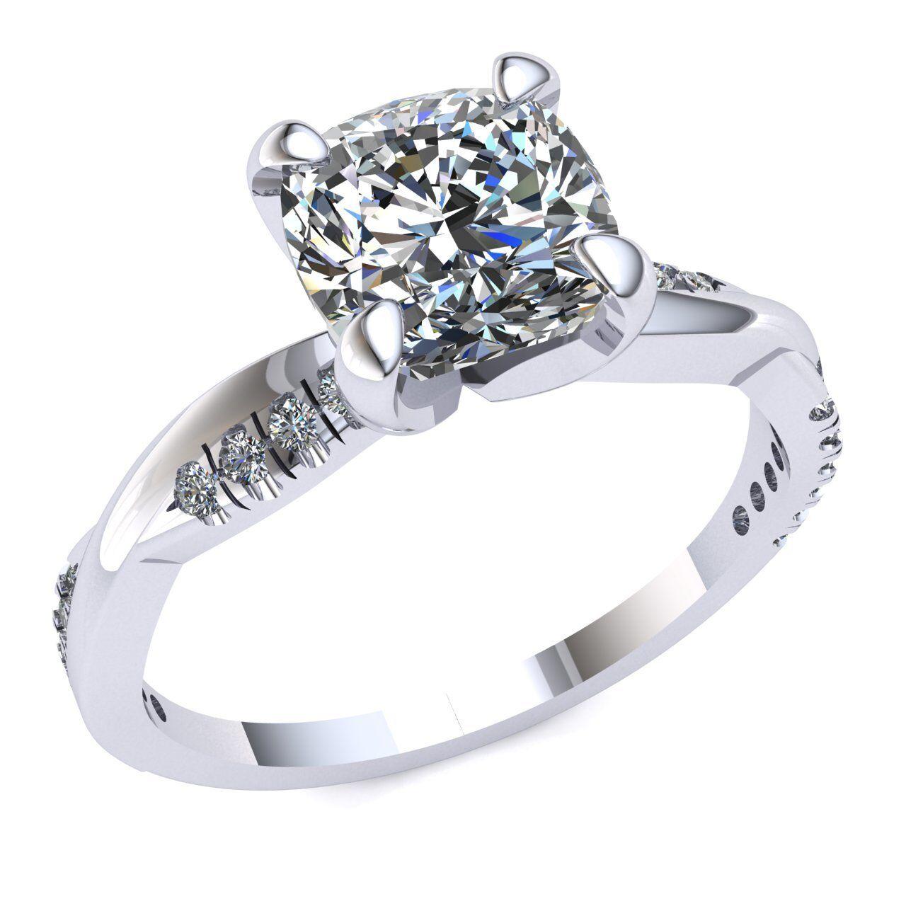Natural 0.5ct Princess Diamond Bridal Solitaire Bridal Engagement Ring 18K gold