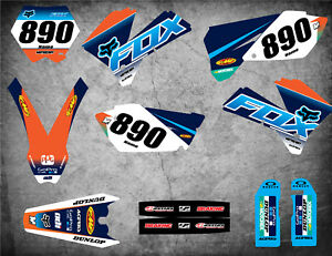 Custom Graphics full Kit  SUNRISE STYLE  stickers to fit KTM SX 1993-1997