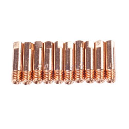 10 Contact Tips MIG//MAG M6 1.0mm*25mm MIG Welding Gun Mini Compact Design MA