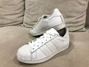 Adidas white leather sneakers size 7 | Men's Shoes | Gumtree