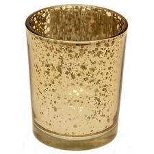 12 X Gold Tea Light Holder Mercury Glass Candle Votive Vintage Wedding Decor