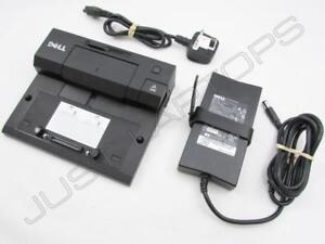 DELL-Latitude-e7440-e5520-e5420-Docking-Station-replicatore-di-porte-USB-3-0-Inc-PSU