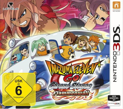 1 von 1 - Inazuma Eleven GO Chrono Stones: Flammenwall (Nintendo 3DS) NEU & EINGESCHWEIßT