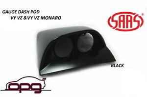 SAAS Gauge Dash Pod Holder for HSV Holden SS SSZ VY VZ For 52mm Gauges Black