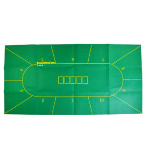 10 Player Texas Holdem Poker Board Cloth Rotary Table ...