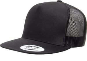 Image is loading Yupoong-Classic-Trucker-Mesh-Hat-Blank-5-Panel- 4efeb327fae
