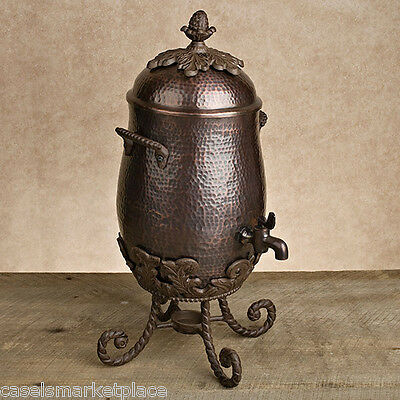 The GG Collection Antique Copper Finish Aluminum Metal Coffee Carafe Server *