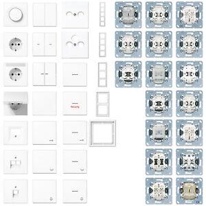 Jung Serie AS500 Steckdosen Rahmen Schalter Wippen alpinweiss  frei wählbar