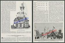 Weltausstellung 1900 Paris Schiffahrt Pavillon Thielen HAPAG Hamburg NDL Bremen