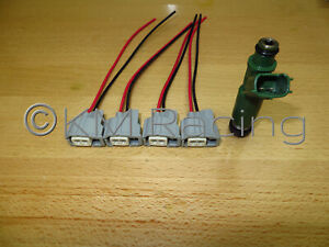4x) Toyota Fuel Injector Wiring Harness Connector Pigtails (Quick  Disconnect) | eBayeBay