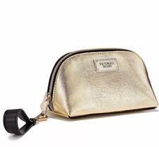 d82fa50eff10 Victoria's Secret Gold Lizard Small Cosmetic Bag Makeup Travel Case Key  Wristlet