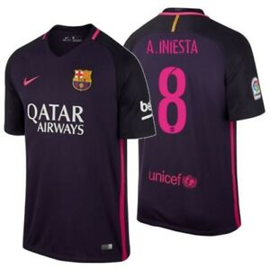 5e768305 Image is loading NIKE-ANDRES-INIESTA-FC-BARCELONA-AWAY-JERSEY-2016-