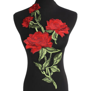 New-Large-Rose-Embroidery-Patches-Lace-Motifs-Venice-Applique-Sew-On-Cloth