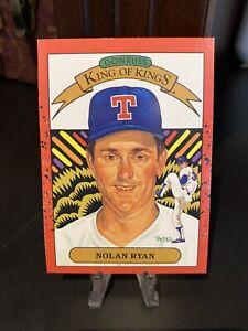 1990 Donruss Nolan Ryan King of Kings #665 Error Card, Wrong Back #659. Rangers.
