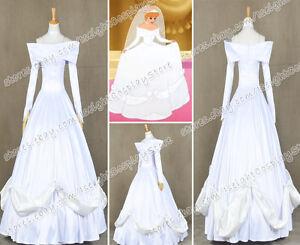 Cinderella 3 Cosplay Costume Princess Cinderella White