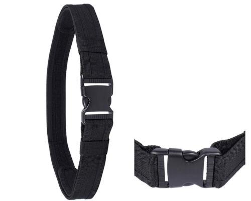1.5 in Airsoft Tactical Load Bearing Cambat Nylon Duty Belt Men/'s Waistband BK