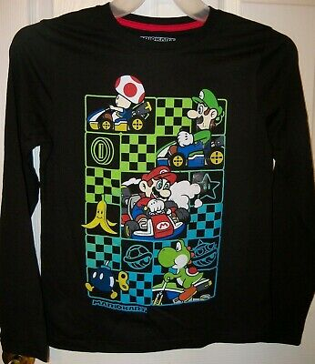 12 NWT MarioKart Super Mario Kart Bowser Toad Long Sleeve Shirt Boys Medium 10