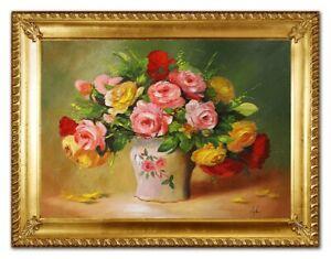 Olbild-Olbilder-Gemaelde-Bilder-Bild-Handgemalt-Ol-mit-Rahmen-Barock-Kunst-G96401