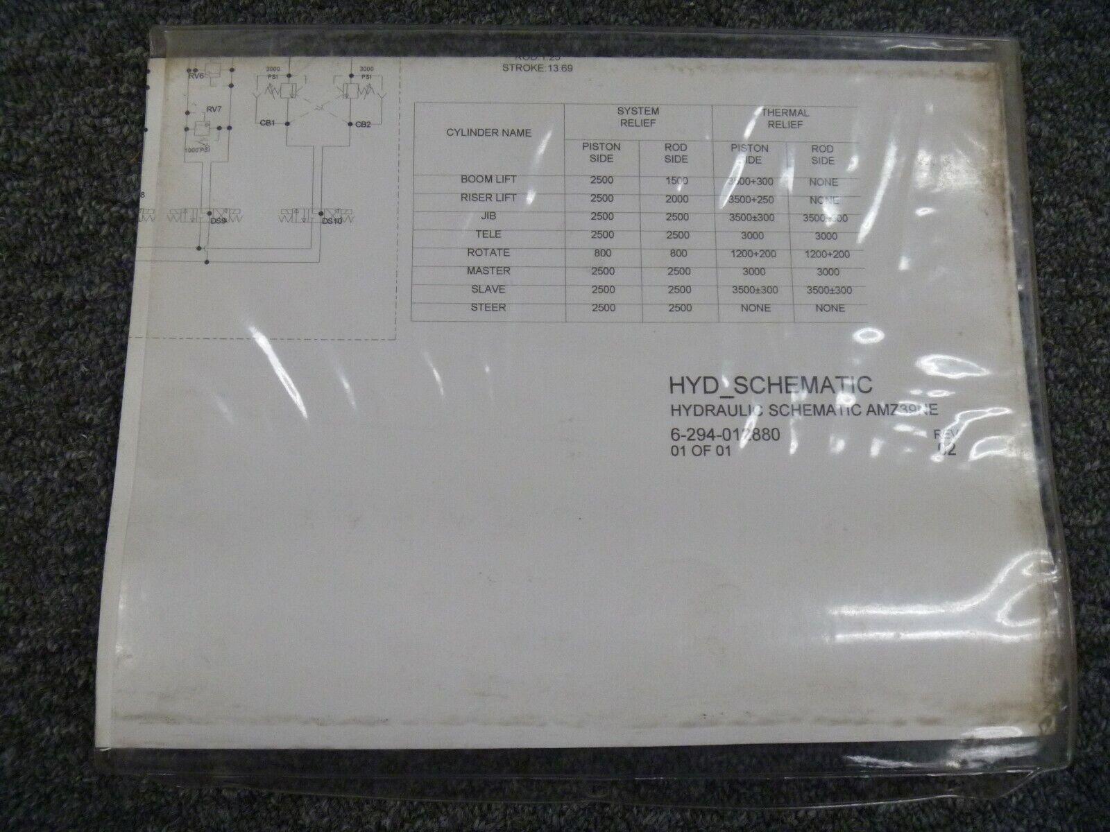 Grove AMZ40E AMZ40NE Aerial Lift Hydraulic Schematic Diagram ...