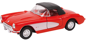 1-34-Welly-COCHE-MODELO-034-Chevrolet-Corvette-57-034-Color-Rojo-Metal-edad-8