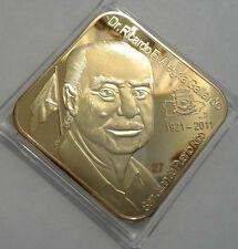 Homenaje RICARDO ALEGRIA 1911-2011 ORO GOLD Cultura PUERTO RICO 1/50 DIAMOND65mm