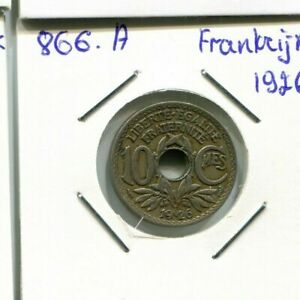 10-CENTIMES-1926-FRANCIA-FRANCE-French-Coin-AN100EW