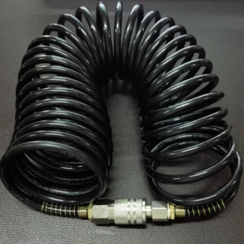 """1//4/"""" Air Hose Fittings Recoil Pneumatic Airline Compressor Quick Coupler Cable"""