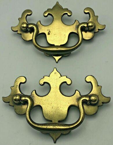 Vintage KBC Keeler Brass Batwing Chippendale Style Drawer Pulls N-19560 Pair