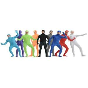 Details about Unisex Open Face Tight Skin Lycra Spandex Full Body Zentai  Suit Back Zip Catsuit