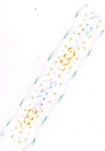 CREATIVE MEMORIES WEDDING STREAMERS//RIBBONS /& CONFETTI STICKER STRIP BN /& NLA