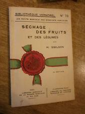 Sibilson Séchage des fruits & légumes Vermorel manuel syndicats agricoles