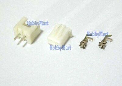 50set, 2.5 XH 2-Pin JST Connector plug ( Male, Female, Crimps )