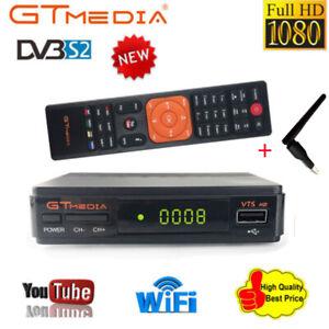 Receptor Satelite GTMedia V7S FREESAT FULL HD 1080p dvb-s2 +RT5370 ANTENA WIFI