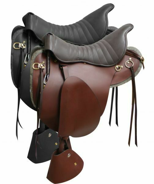 18  Leather TROOPER SADDLE Smooth Leather Skirt with Padded Seat