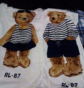 Image Is Loading Polo Ralph Lauren Bear Beach Towel His