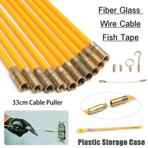 CABLE-ACCESS-KIT-KITS-ELECTRICIANS-PUSH-PULL-PULLER-ROD-RODS-WIRE-WIRES-4mm-NEW