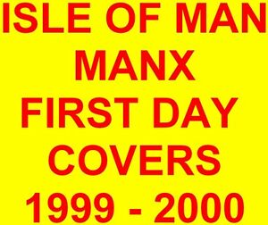 Isle-of-Man-Manx-First-Day-Covers-1999-2000