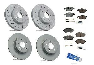 New mercedes w204 c300 2008 2012 complete front rear for Mercedes benz c300 brake rotors